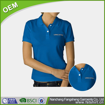 Custom Sublimated Polo Shirts Blue Color With Logo Printing Buy