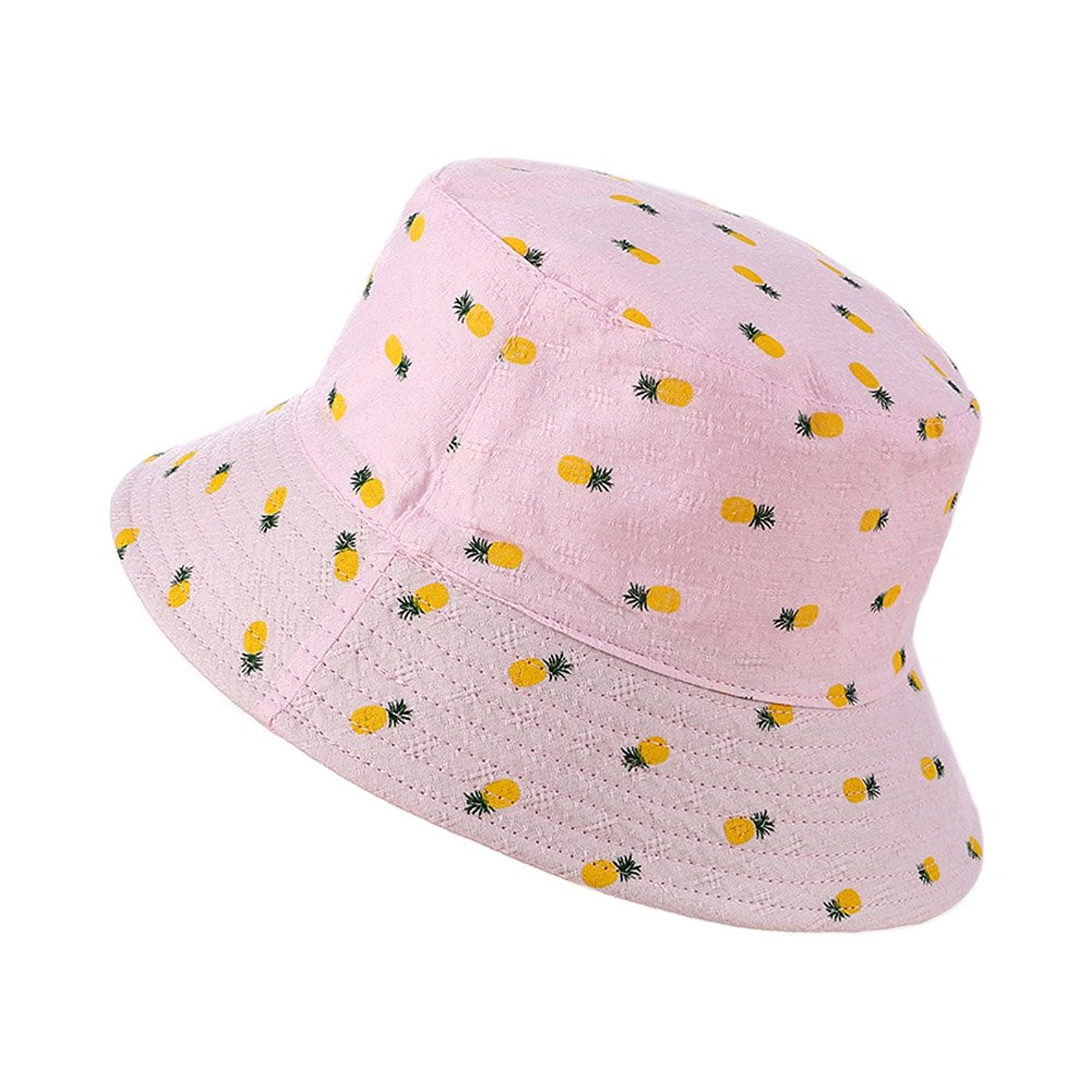 343cc12d2890f Get Quotations · Song Pineapple Basin Hat Sunbathing Fisherman Hat Wild  Casual Sun Hat