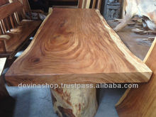 Acacia Wood Solid Slab Wood Dining Table from 8 to 13 ft