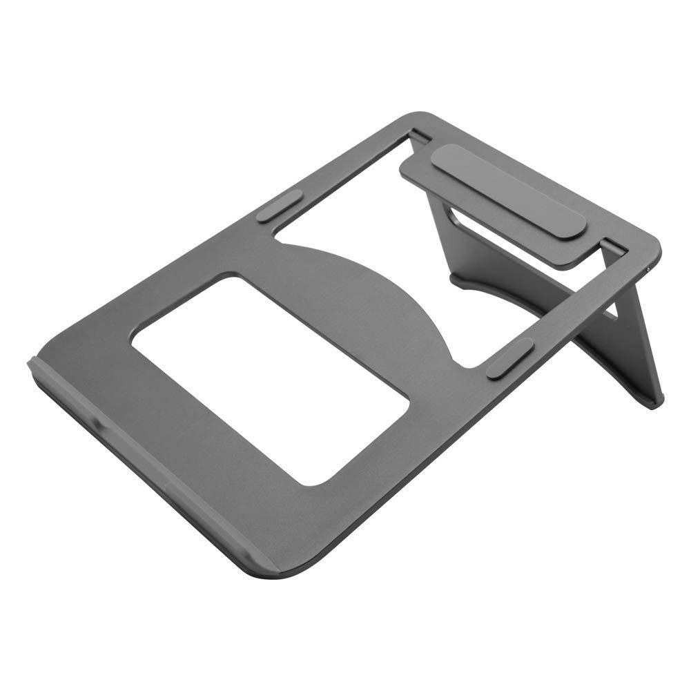 Efanr Aluminum Laptop Stand, Ergonomic Cooling Notebook Stand Desk Dock Holder Bracket Fits Up to 17 inch Laptops & Tablets
