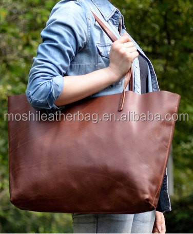 Zb01 Moshi Vintage Genuine Leather Tote Bag Genuine Leather Women ...