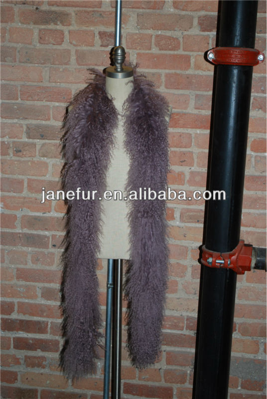 Hot sell mongolian fur scarf