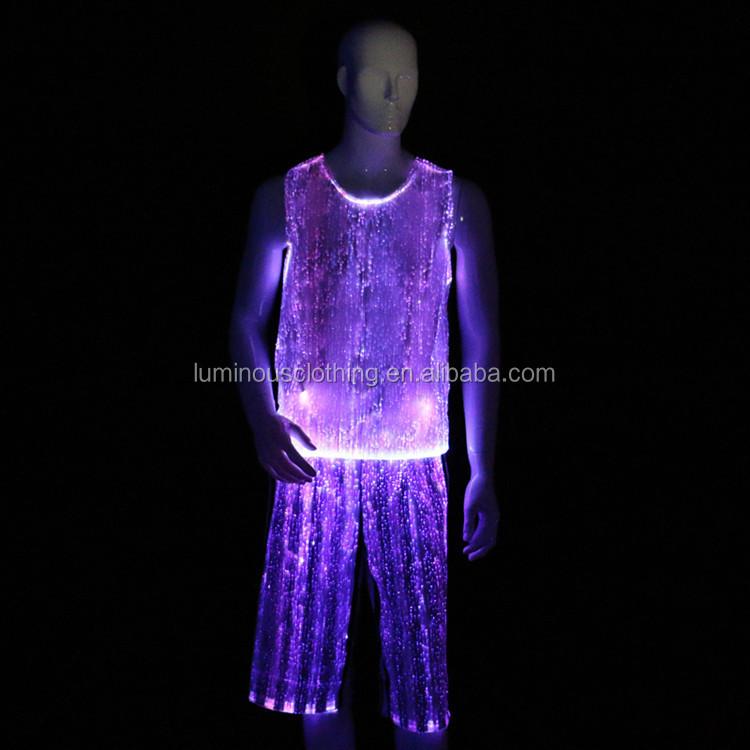 fiber optic clothing wear luminous man disco latin dance. Black Bedroom Furniture Sets. Home Design Ideas