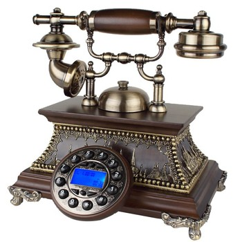 European antique telephones;antique style landline telephone ;wooden old fashion phone