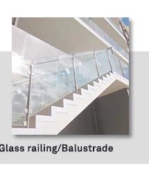 バルコニーガラス欄干手すり黒価格