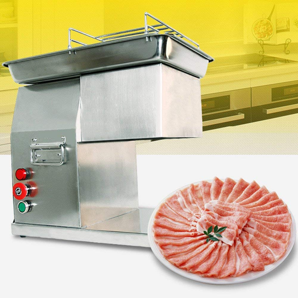 Zorvo Commercial Meat Slicer Stainless Steel Fresh Meat Cutter Cutting Blade Electric Meat Cutting Machine for Restaurant Automatic Meat Cutting Machine, Cutter, Slicer