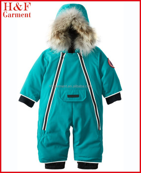 7dbe333c3fb3 Infant Toddler Snowsuit Coveralls Insulated Hooded Custom Logo ...