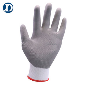 Free Sample Nylon Knitted PU Coated Gardening Working Gloves