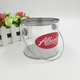 Good Quality Clear PVC Plastic Cylinder Candy Box Round Tin Box With Metal Lid and Handle