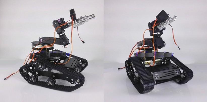 Diy Assembly Tr300 6 Dof Metal Rc Chassis Tank Car Robot Arm Kit