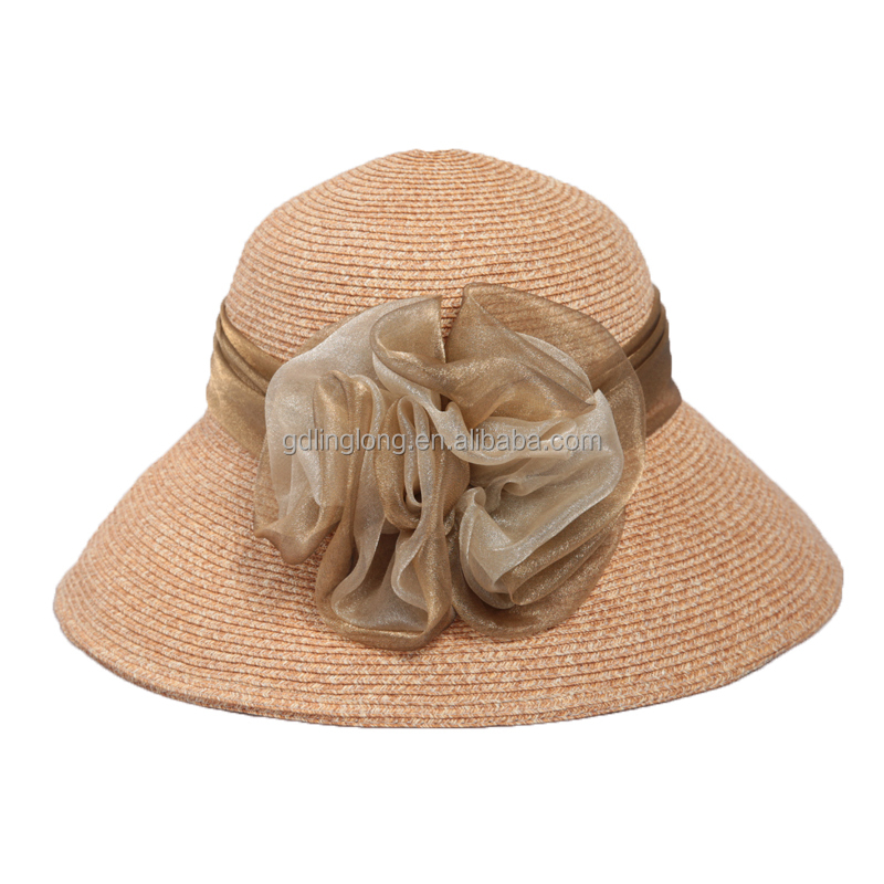 Factory Lady Beach Straw Hat Wholesale Women Straw Hat for Sale