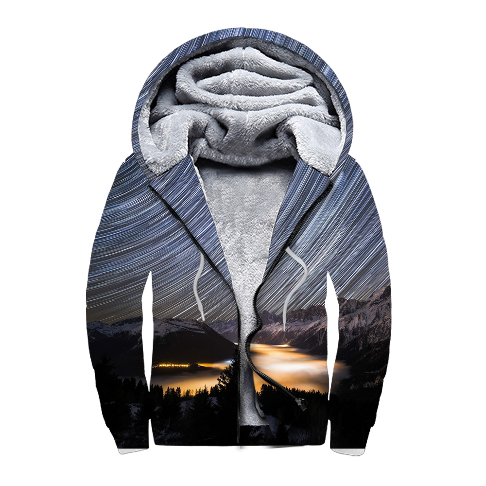 0a382a64d Dropship wholesale custom 3d printed full sublimation printing mens thick  sherpa polyester heavy fleece zip up hoodie for unisex