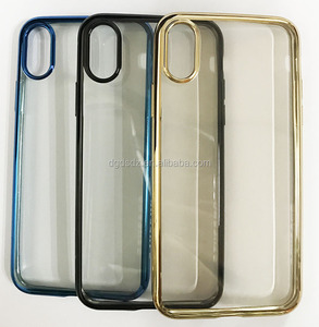 For iPhone 8 factory TPU clear case with electroplating made in china