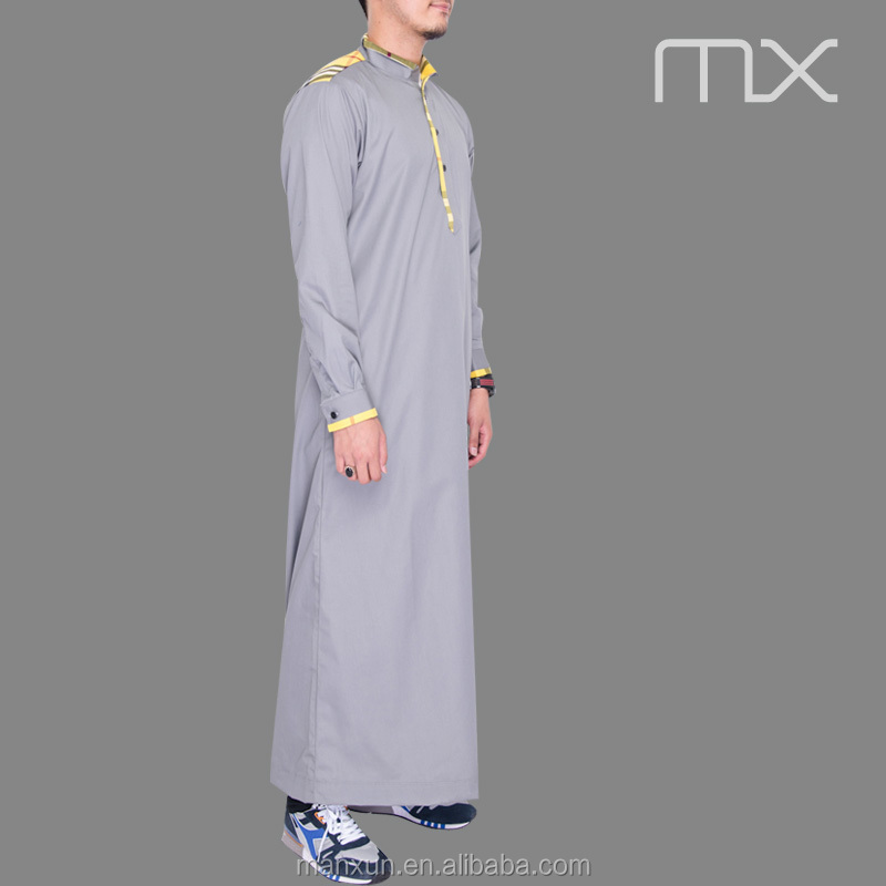 Muslim Men Thobe Kurta Collar Style 2016 Muslim Men Clothing
