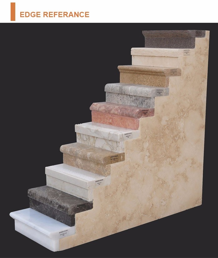 Household Interior White Marble Stone Stair Treads View