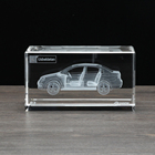 3D laser crystal souvenir gift with custom design