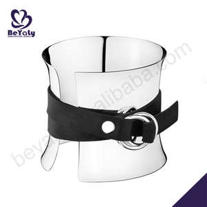 925 silver latest leather band girls fancy bangles