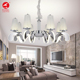 Flying Lighting round stainless steel live room drop led crystal chandelier lamp pendant light