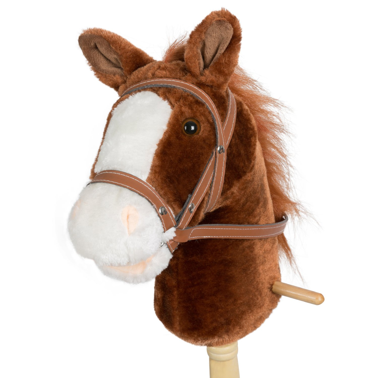 Wooden stick pink horse kids..REALISTIC SOUNDS yee haa!! BATON CHEVAL