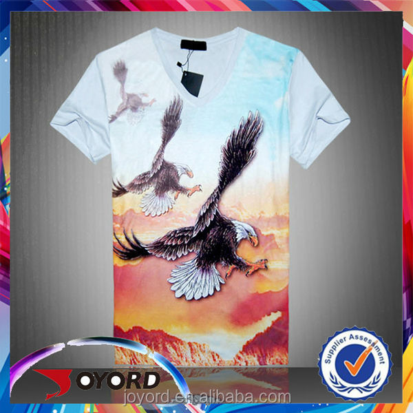 2015/2017 Guangzhou Fashion Sublimation Tee Shirt with High Quality Free Design for Basic Athletic and Casual Wear