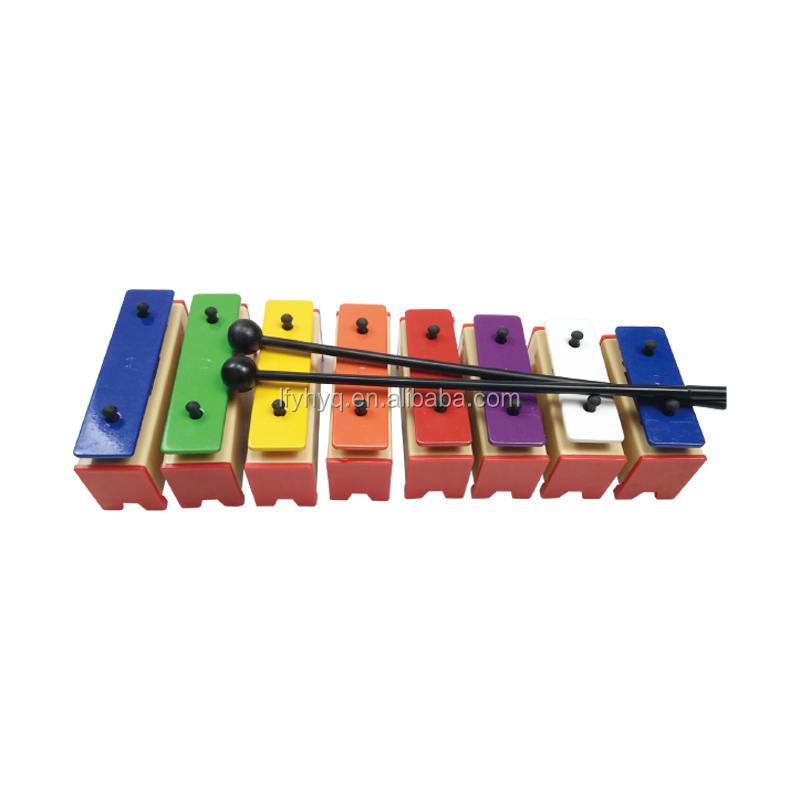 Orff percussion instrument plastic xylophone with metal bars,child toy xylophone