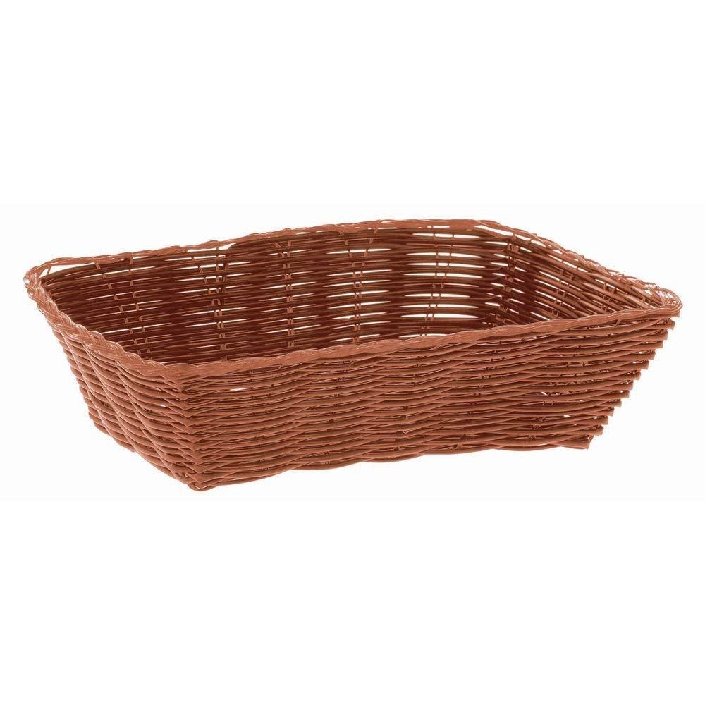 HUBERT Brown Wicker Bread Basket Rectangular - 9 3/4 L