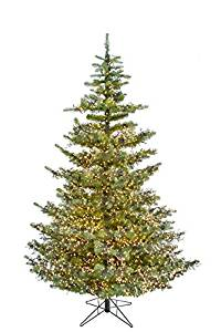 get quotations 7 ft green forest artificial christmas tree with clear led cluster lights
