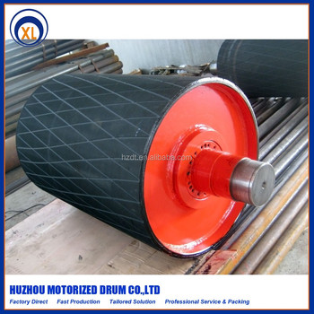 manufacturer rubber coated conveyor rollers drive pulley buy