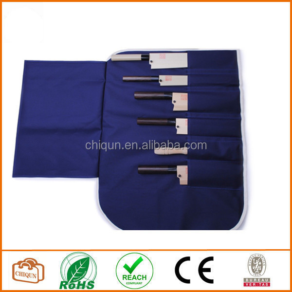 Cotone Coltello Sacchetto/borsa Giapponese Sushi Chef Accessori Coltello (6 Slot)