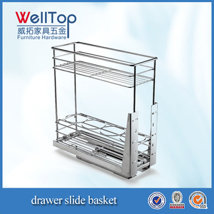 Stainless steel 2 layer base pullout basket VT-09.491