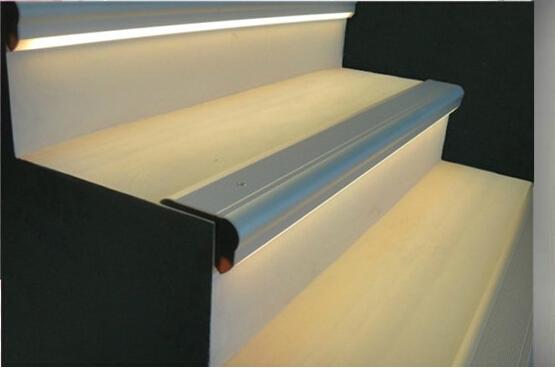 Led Stair Nosing Aluminium Profile For Step Lights Led