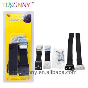 Professional nylon safety strap magnetic baby lock furniture