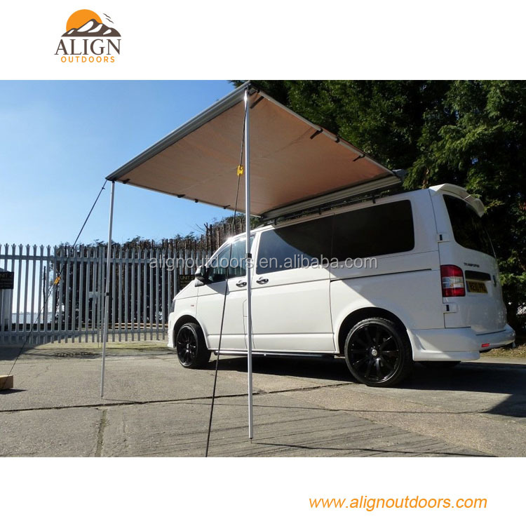 4X4 Car side RV awning/4WD ALUMINUM POLE Oxford/Canvas retractable awnings for suv