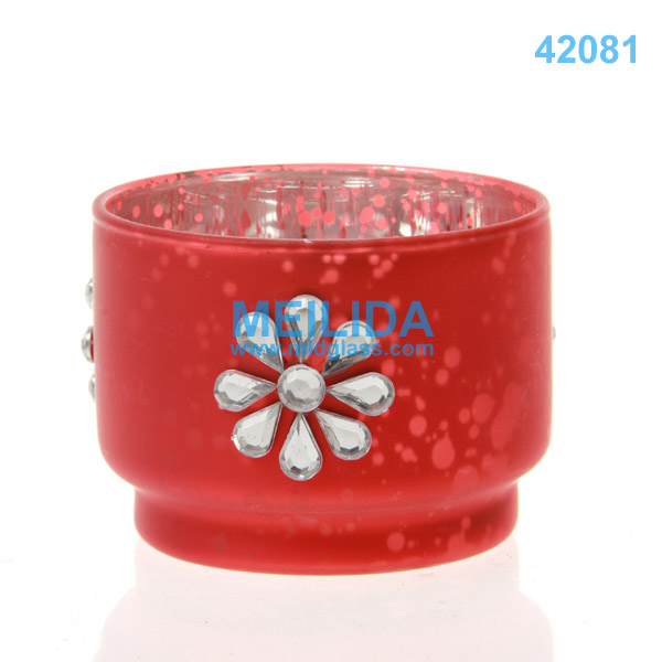 Wholesale glass taper candle holders for wedding decoration