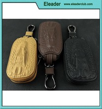 Leather Car Remote Key Bags Case Holder Cover