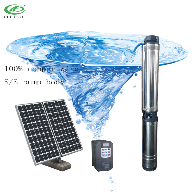 dc submersible water pump/solar deep well water pump