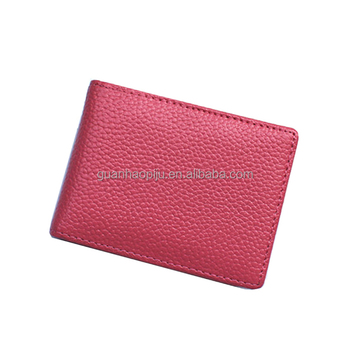 Simple Horizontal Genuine Leather Driver License Holder