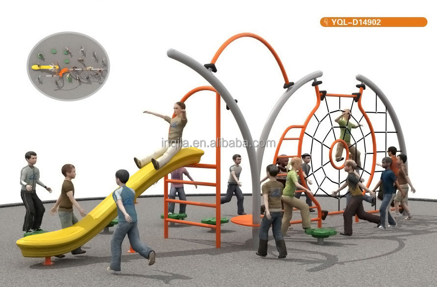 Outdoor Kids Playground Climbing Equipment with Slide