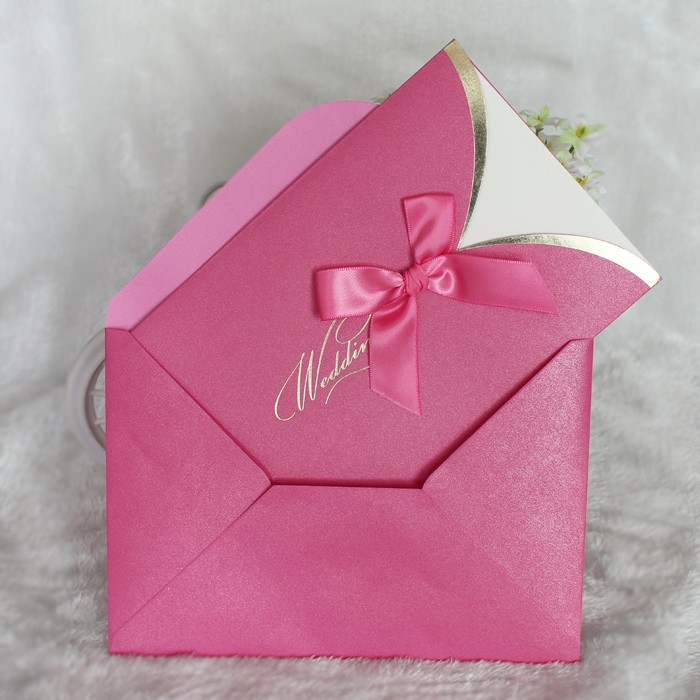 DIY pocket envelope design simple and elegant ribbon wedding ...