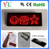 with battery high quality 12*36/12*48dots programmable scrolling message usb rechargeable led scrolling badge