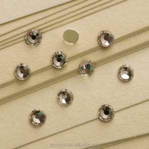 Great 16 cut facets crystal flatback rhinestones for sale loose glass stones for nail art and shoes