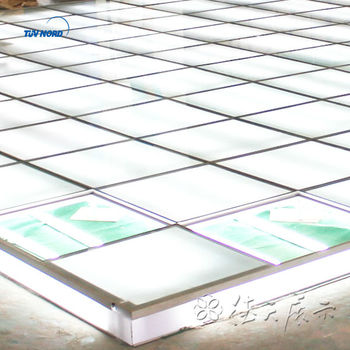 Raised Floor Lighting Glass System For Trade Show Service