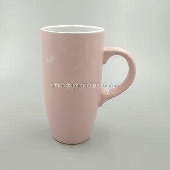 365228bb776 Hot Pink Ceramic Stoneware Custom Tall Coffee Mug - Buy Tall ...