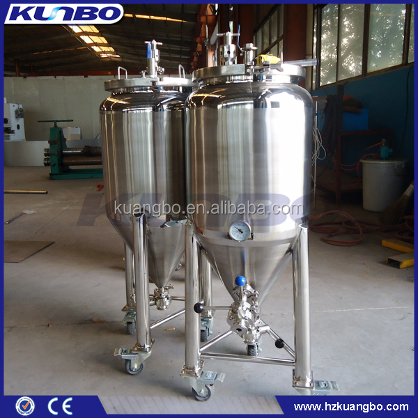 100L Small Capacity Sanitary Construction Beer Fermentation Tank With Casters For Brewhouse
