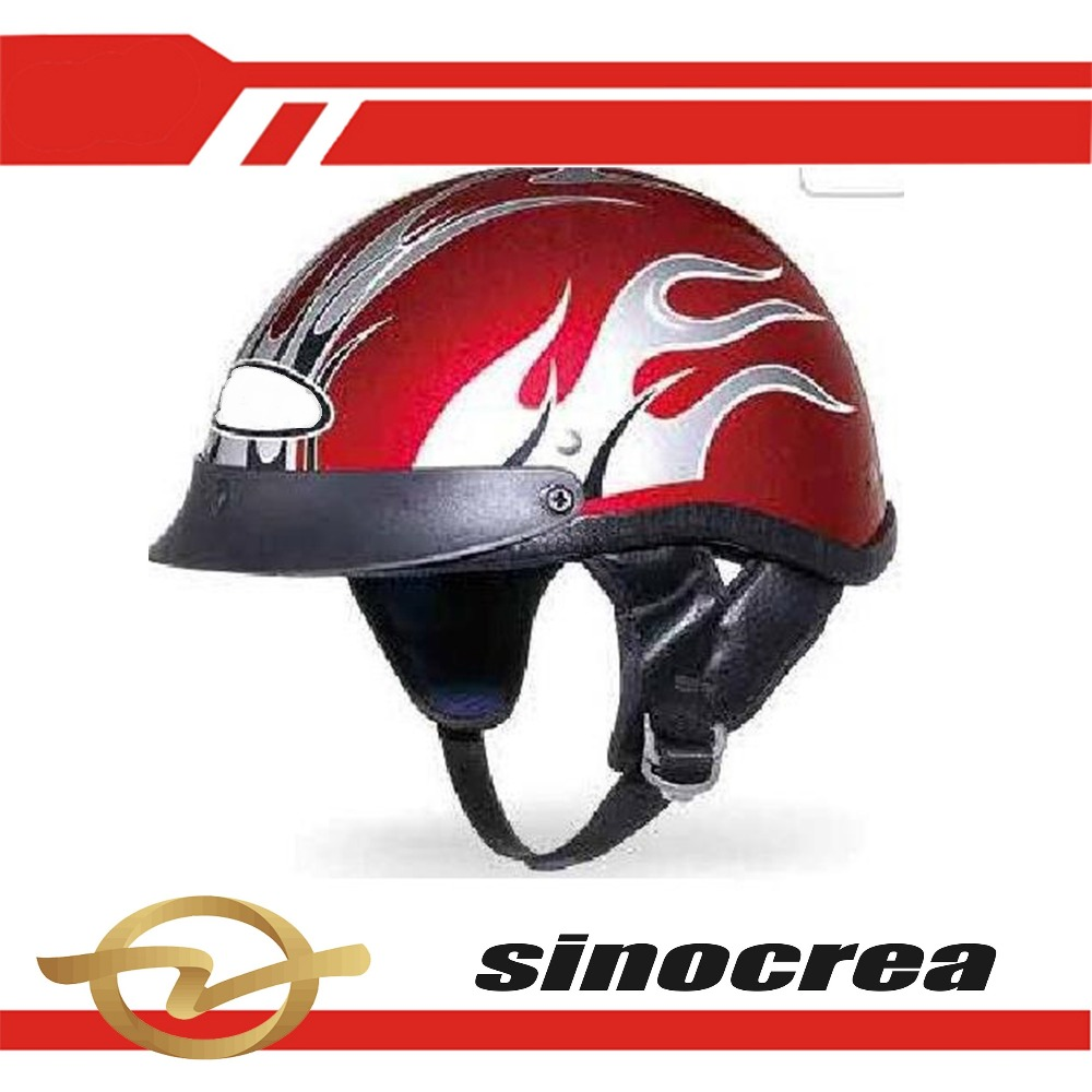 TOP SALE ABS LEATHER MOTOR CYCLE HELMET WITH PC VISOR