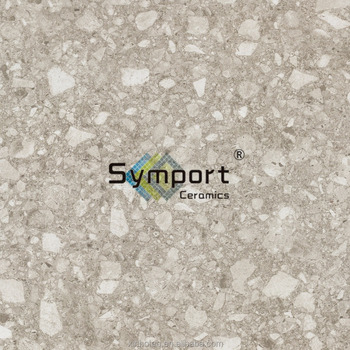 M10 Hot Sale Half Polished Matt White Terrazzo Marble Look Bathroom Shower Floor Tile Buy White Marble Floor Tile White Marble Floor Tile White