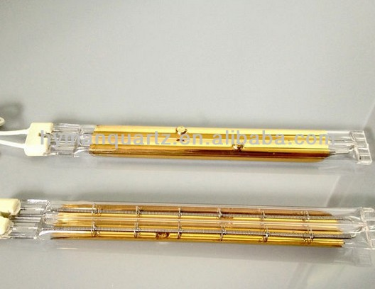 Energy Saving Golden Plated Quartz Heating Twin Tube for Element Lamp