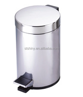 SHINY E07 Stainless steel round shaped pedal bin