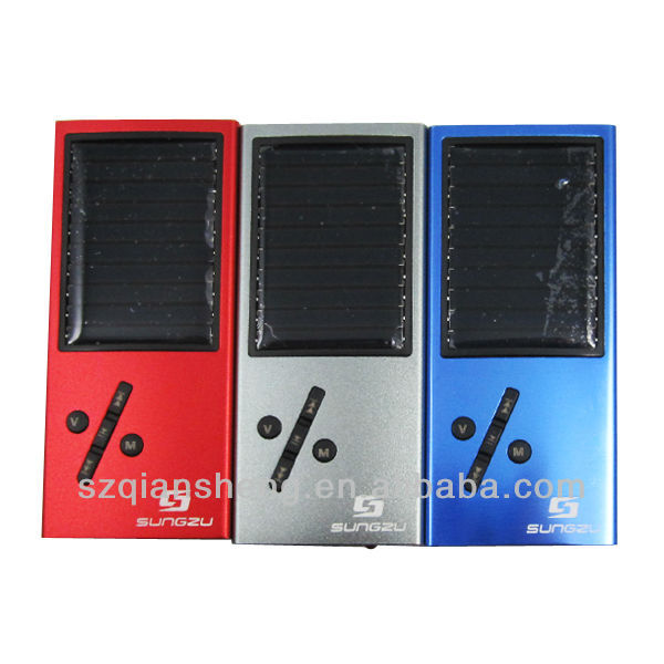 TF card touch pad solar mp3 music player with FM Radio Function