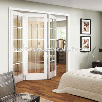 White Frosted Window Glass Bifold Door Interior Fancy